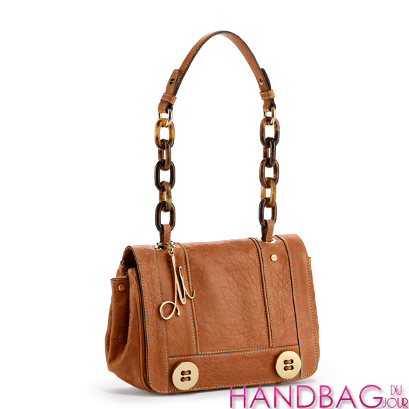 Milly Camel Leather Flap Bag