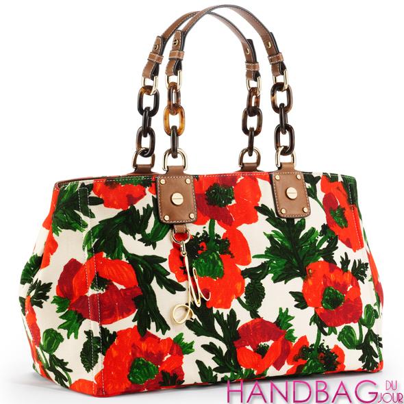 Milly Flower Print Tote Bag