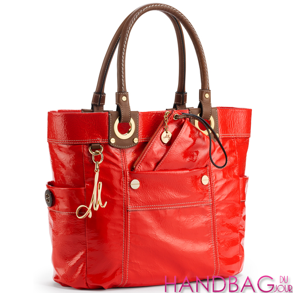 Milly Red Patent Tote Bag