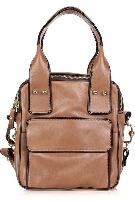 Missoni Square leather tote back
