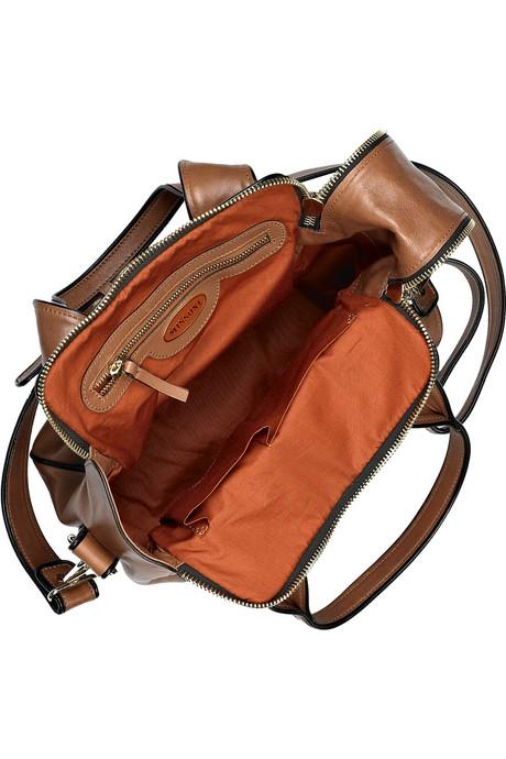 Missoni Square leather tote inside