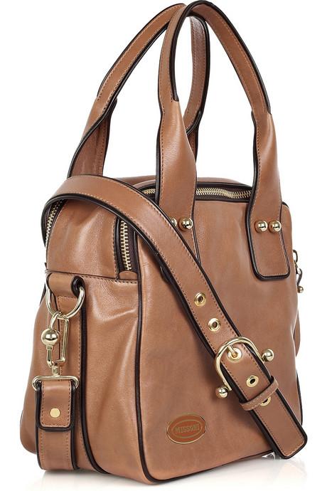 Missoni Square leather tote side