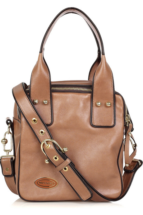 Missoni Square leather tote