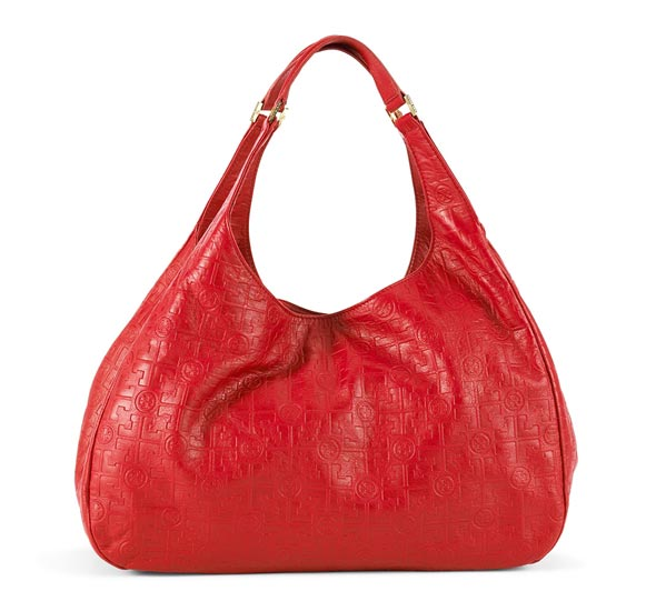 Tory Burch Dafina Hobo in red