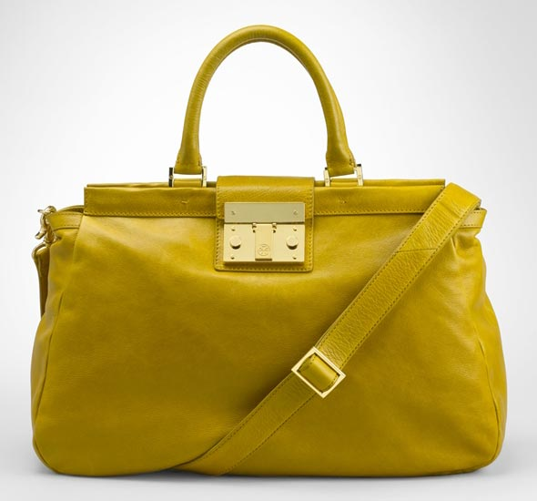Tory Burch Oversized Norah Satchel in soleil yellow