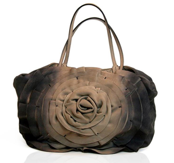 Splurge du Jour - Valentino Ivory & Indigo Leather Petal Tote