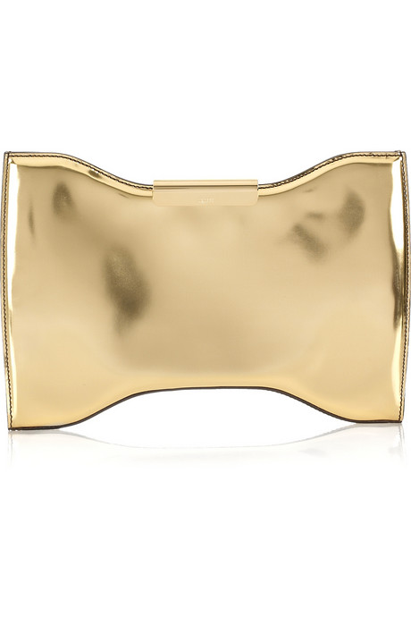 alexander mcqueen Squeeze It metal-effect leather clutch