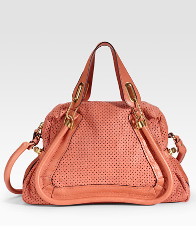 Chloé Paraty Medium Perforated Leather Tote