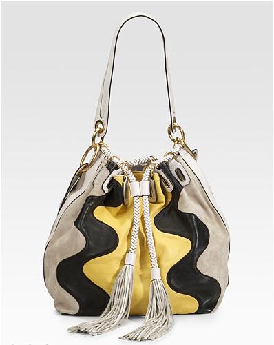 Diane Von Furstenberg Penny Leather Suede Drawstring Pouch