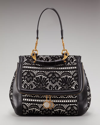 Jessica Alba Dolce & Gabbana Miss Rosa Lace Bag