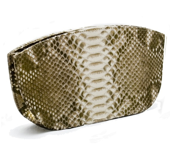 Fossati-Venice-Evening-Clutch-in-Gold-Python