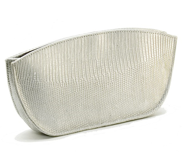 Fossati-Venice-Evening-Clutch-in-Silver-Lizard