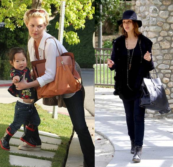Katherine-Heigl-and-Jessica-Alba-spotted-sporting-Gerard-Darel