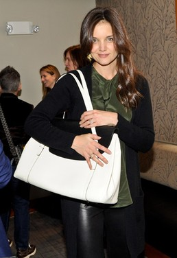 Meet Katie Holmes Valextra for Holmes & Yang collection handbag designer