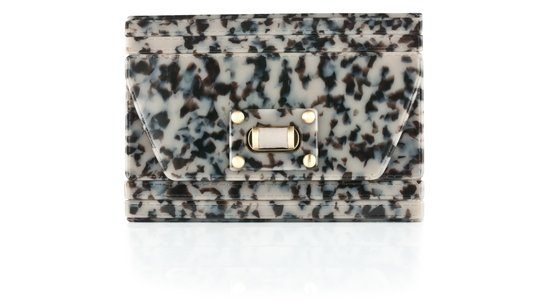 Malini Murjani Resin & Napa Leather Clutch