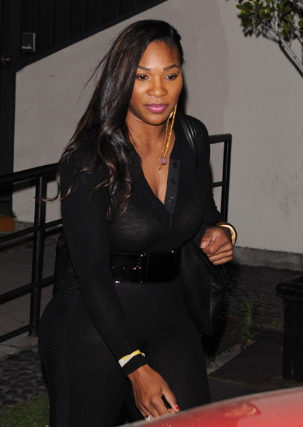Serena Williams is seen leaving STK restaurant on March 15, 2011 in Los Angeles, California.