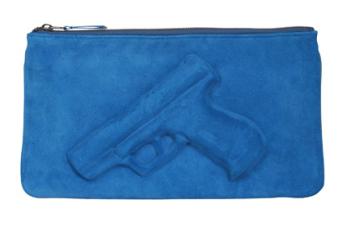 Vlieger & Vandam Guardian Angel Clutch blue