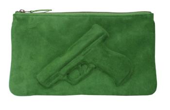 Vlieger & Vandam Guardian Angel Clutch  green