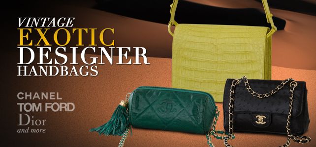 vintage exotic bags
