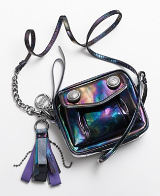 Coach Poppy Oil Slick Boxy Bag