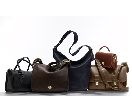 Coach bags for Net-a-porter Prices range from $298 for a shoulder purse to $498 for a field bag. There's also a Madison satchel for $358, Stewardess bag, $358 and duffle, $398