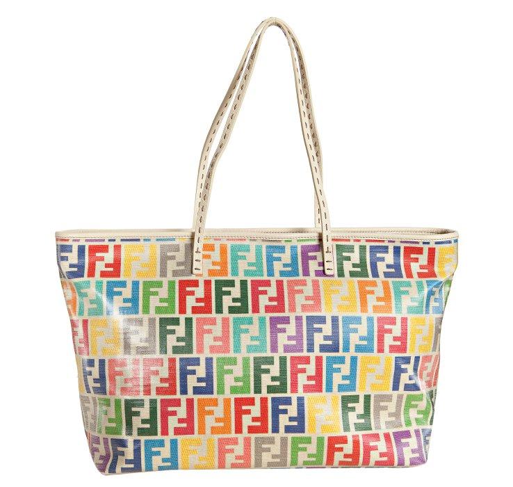 6a82f08b2677 Haute bag of the week  Fendi rainbow Zucca laminated canvas  Roll ...