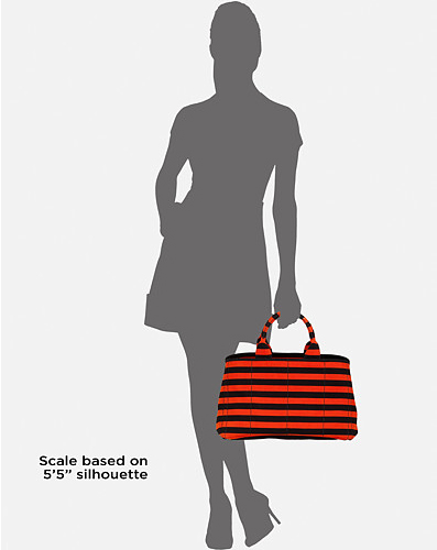 Prada-Stripe-Tote-model