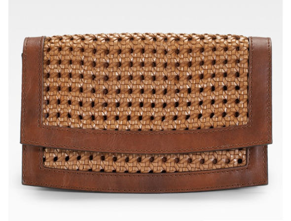 Stella-McCartney-Braided-Faux-Leather-Clutch