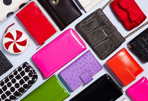colorful wallets
