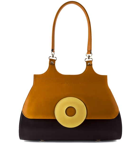 Hester-van-Eeghen-Monocle-bag-Brown,-Mais,-Yellow