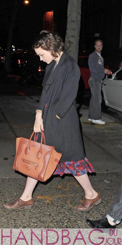 Carey-Mulligan-Celine-leather-luggage-shopper