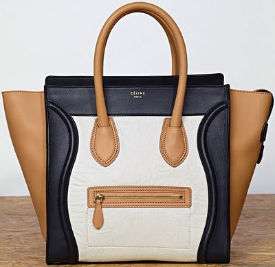 Celine-Multicolored Mini-Shopper-Leather boston bag