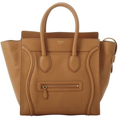 Celine leather boston shopper