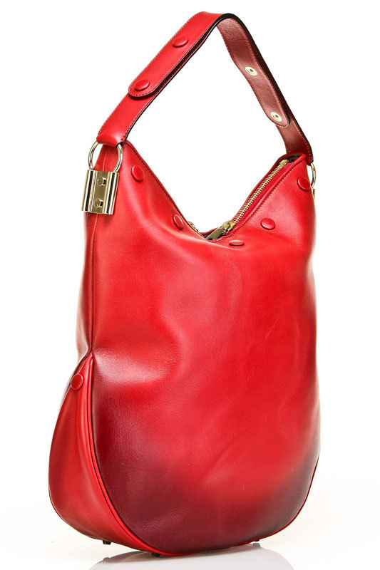Chloe Irvine Large Hobo in Ruby back