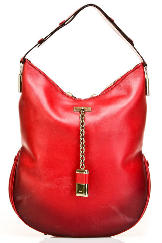 Chloe Irvine Large Hobo in Ruby