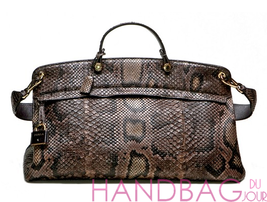 Furla-for-Saks-Fifth-Avenue-python-satchel-bag