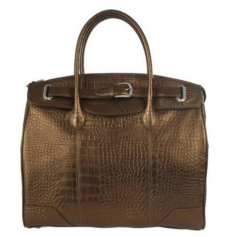 Judith-Ripka-Manhattan-Croco-Embossed-Leather-Tote-w-Buckle-Detail QVC
