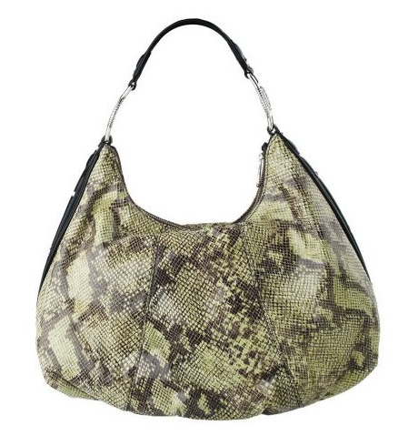 Judith-Ripka-Soho-Python-Embossed-Leather-Hobo-w-Zipper-Closure QVC