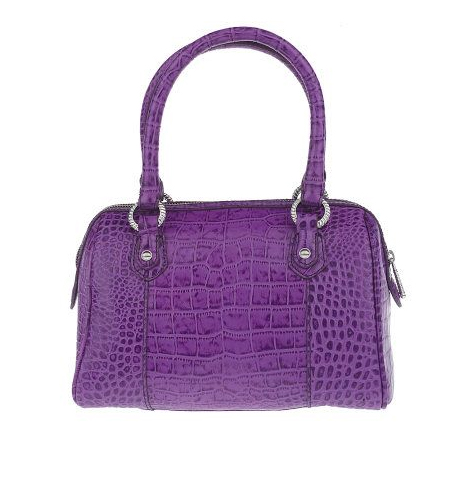 Judith-Ripka-Vanderbilt-Croco-Embossed-Leather-Satchel-w-Zipper-Closure QVC