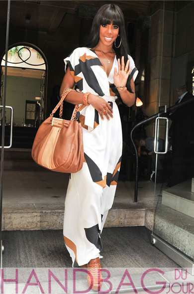 Kelly Rowland Fendi Mia Borsa Grande