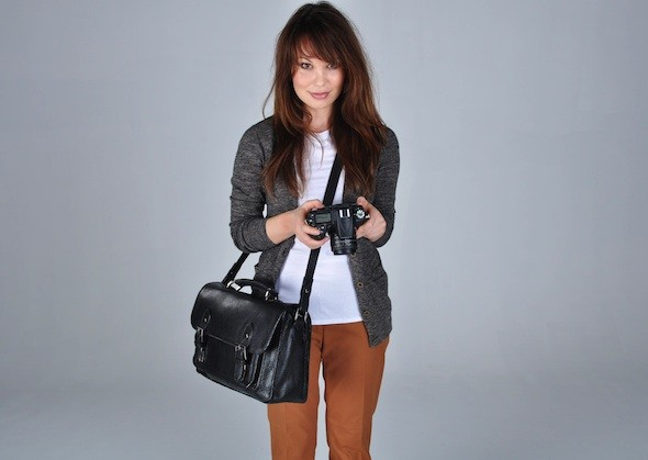 ONA Brooklyn Premium Leather Camera Satchel  black