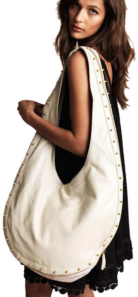 Sara-Berman-Millie-Studded Hobo-Bag-in cream