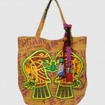 Vivienne Westwood Ethical Fashion Africa Project Large Fabric Eagle print canvas Shopper Bag