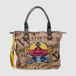 Vivienne Westwood Ethical Fashion Africa Project Large Fabric Embroidered Bag