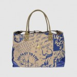 Vivienne Westwood Ethical Fashion Africa Project canvas duffle bag