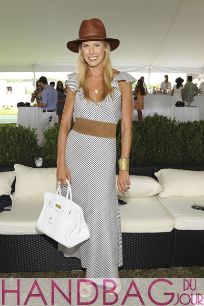 Beth-Ostrosky-attends-Bridgehampton-Polo-hosted-by-Hamptons-Magazine-on-August-6,-2011-in-Bridgehampton,-New-York.-white-Hermes-Birkin