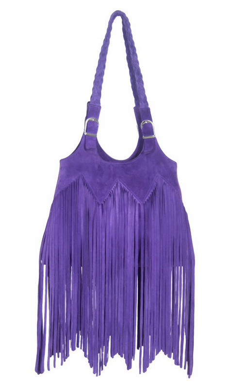 Ember Skye Shelly Bag in purple suede