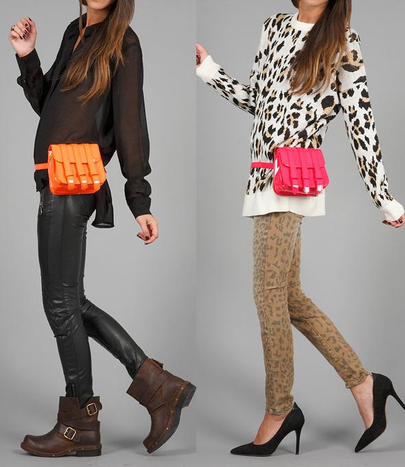 Girls-We-Hated-in-High-School-by-Jeffrey-Campbell-Abatte-Bag-neon-pink-orange-on-model