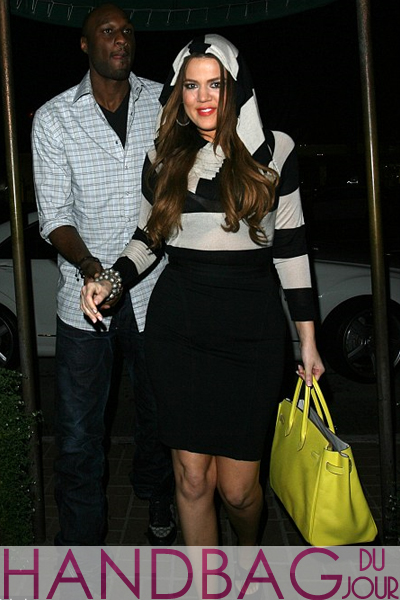 Khloe-Kardashian-at-Madeo-Ristorante-in-Beverly-Hills-with-Lamar-Odom-Eva-Longoria-and-Eduardo-Cruz-yellow-Hermes-Birkin-bag