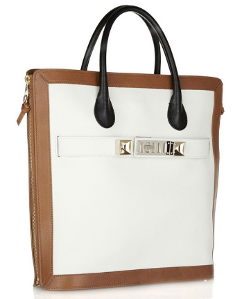 Proenza-Schouler-PS11-Capri-Leather-Tote-ivory-tan-black-side-view